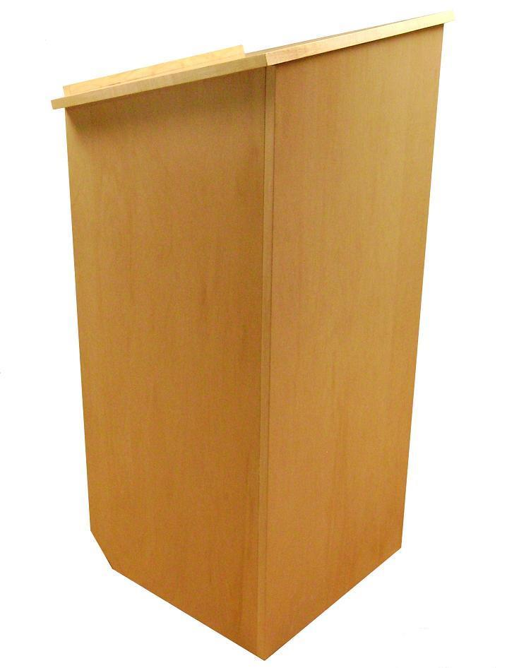 Basic lectern with casters. Natural Finish