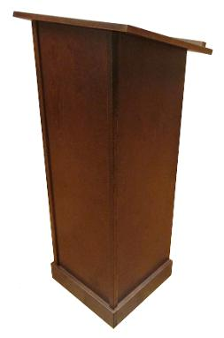 Pedestal Lectern, Dark Walnut Finish